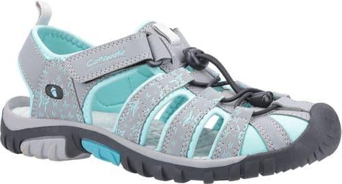 Cotswold Sandhurst Sandal Ladies Summer Grey / Aqua